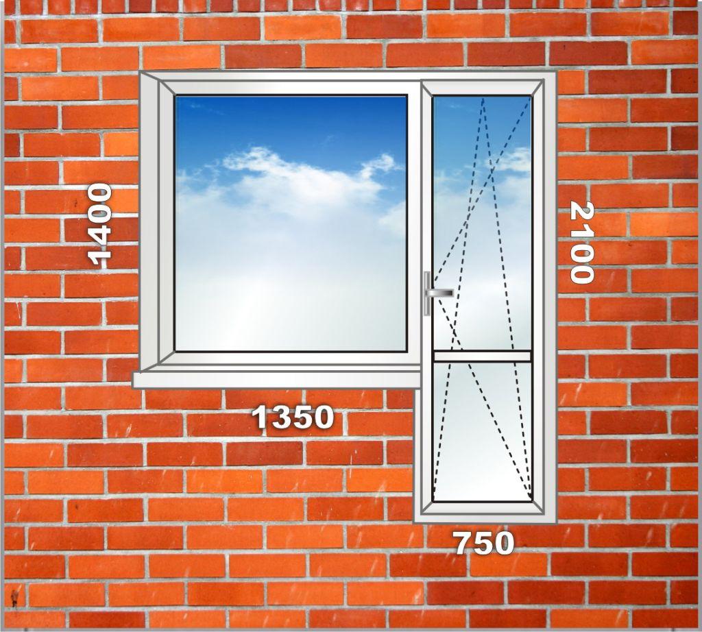Размеры балконного блока зависят от типа проема