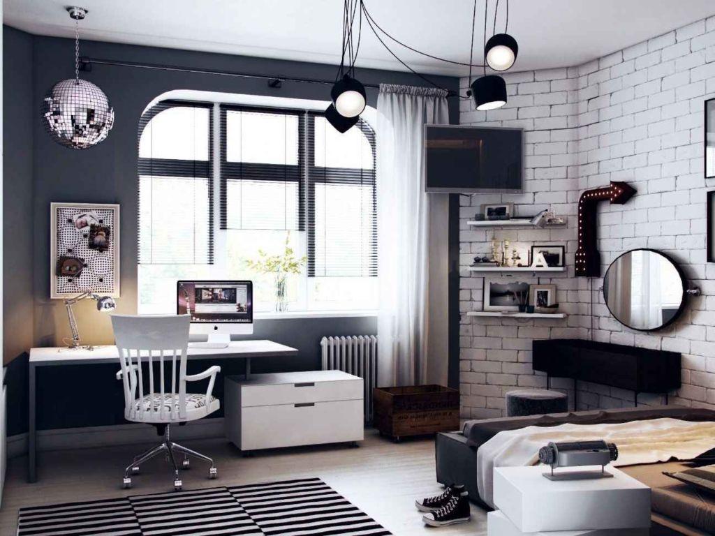 Зонирование – важный аспект помещения, которое одновременно и спальня, и гостиная для друзей, и место самообразования