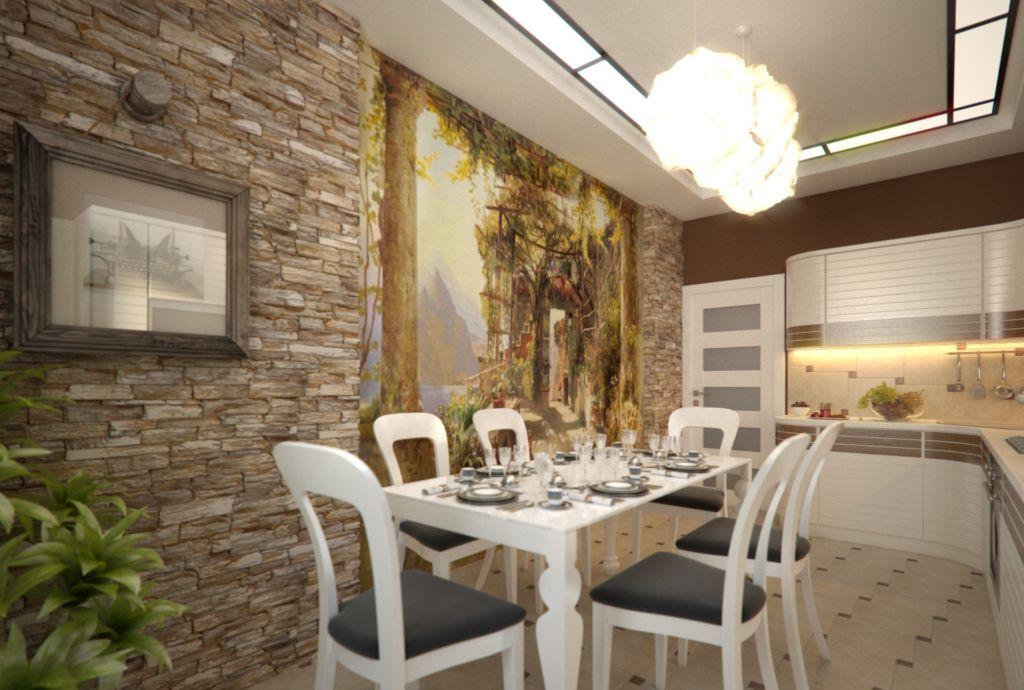 При оформлении комнаты маленького размера следует использовать методику фрагментарного декорирования
