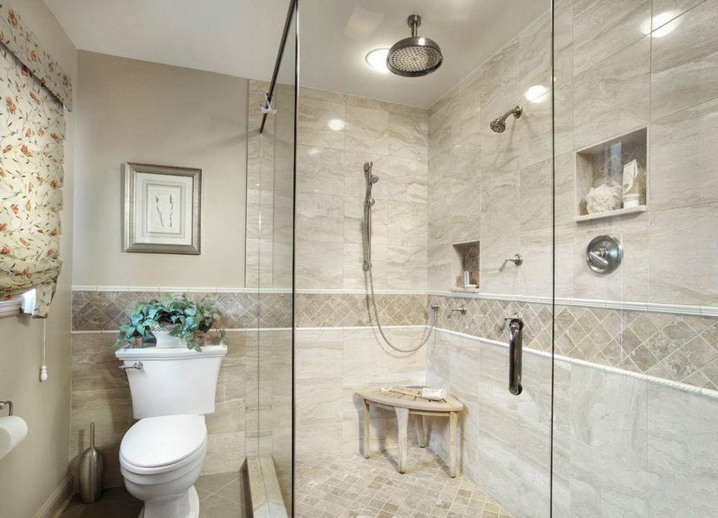 Для создания интерьера ванной комнаты идеальным вариантом является керамика