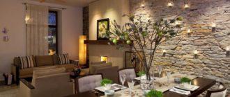 7 стилей интерьера для гостиной с отделкой искусственным камнем