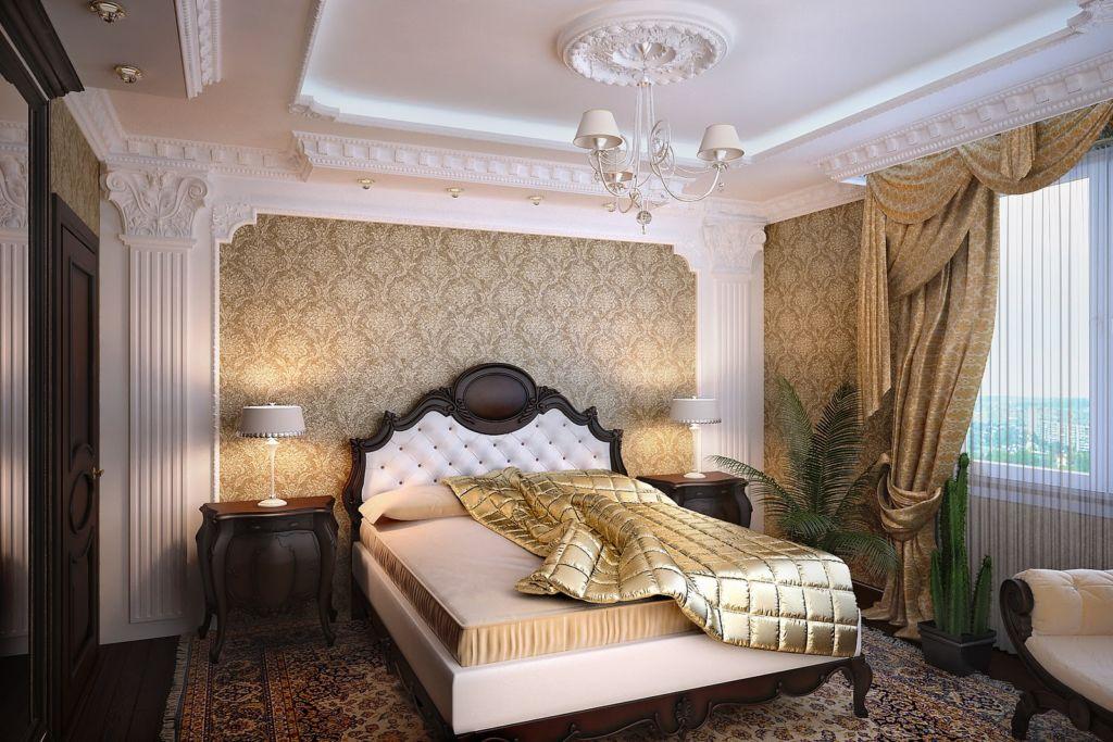 Отделка стен спальни в восточном стиле