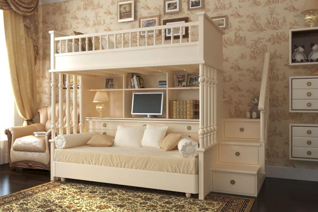 Обои для спальни детской в классическом стиле