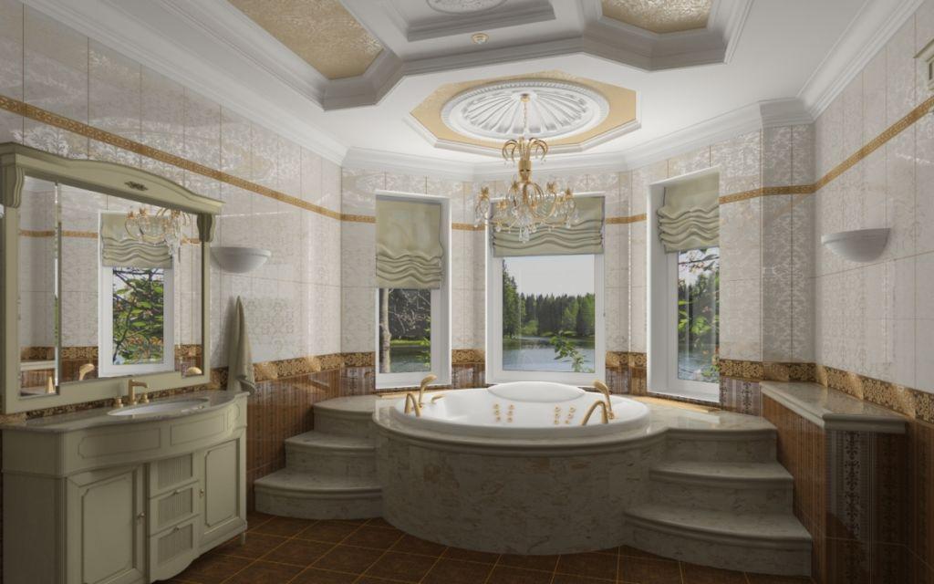 Пример классической ванной комнаты
