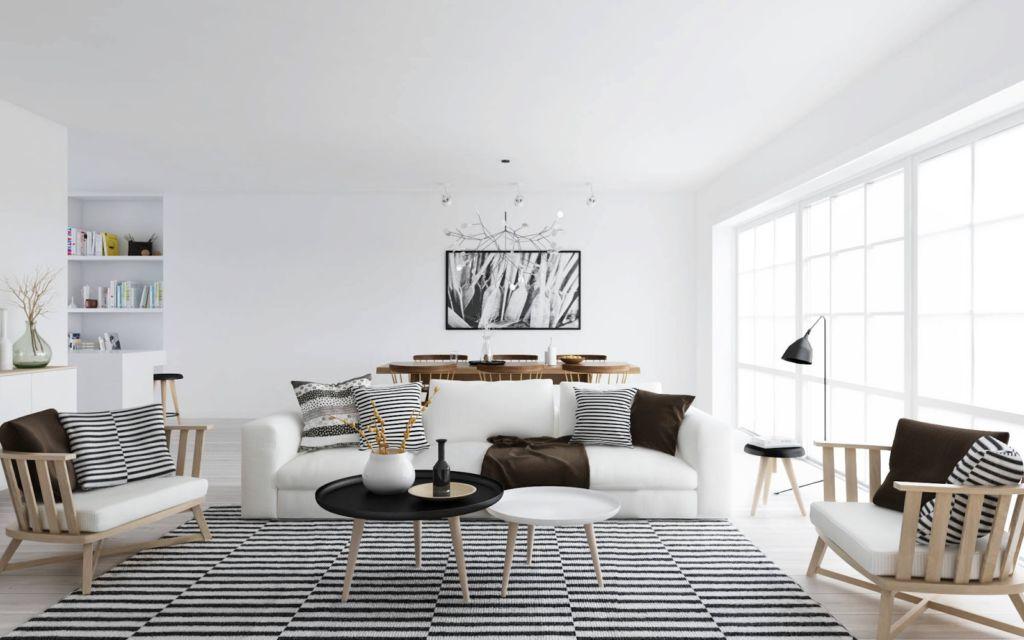 Для оформления потолка использовать обычные белила или красить потолок просто белым акрилом