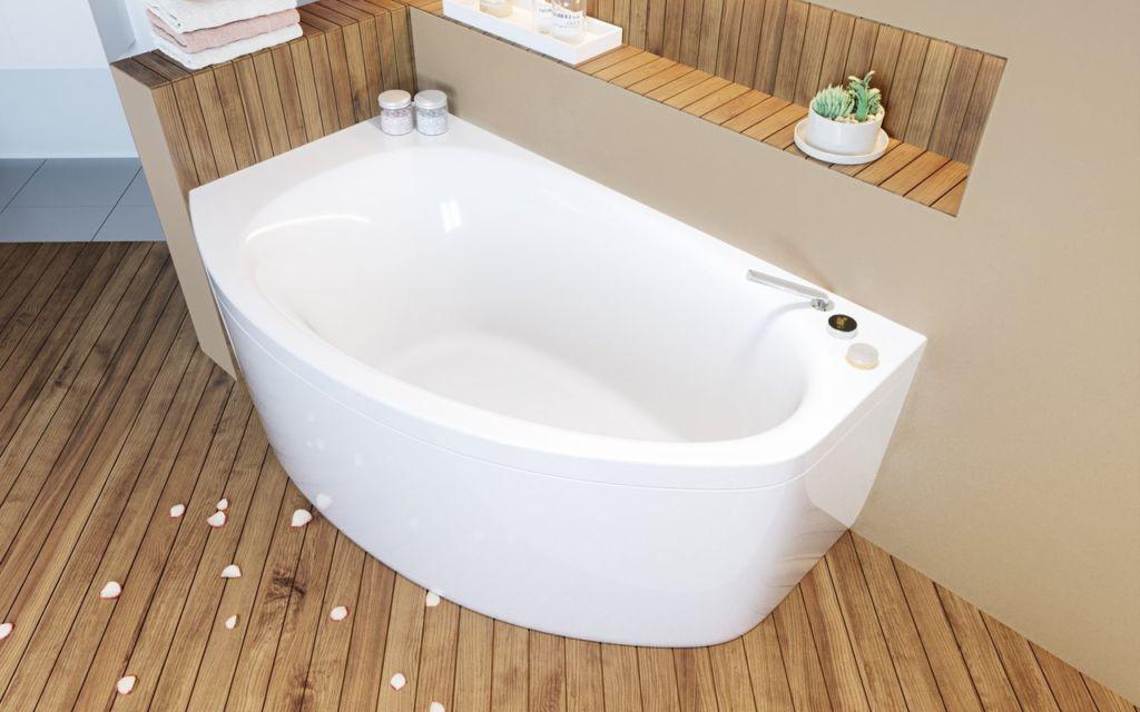 5 стилей для маленьких ванных комнат с угловой ванной