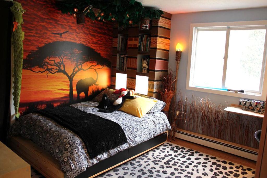 Спальня для мальчика подростка в этническом стиле