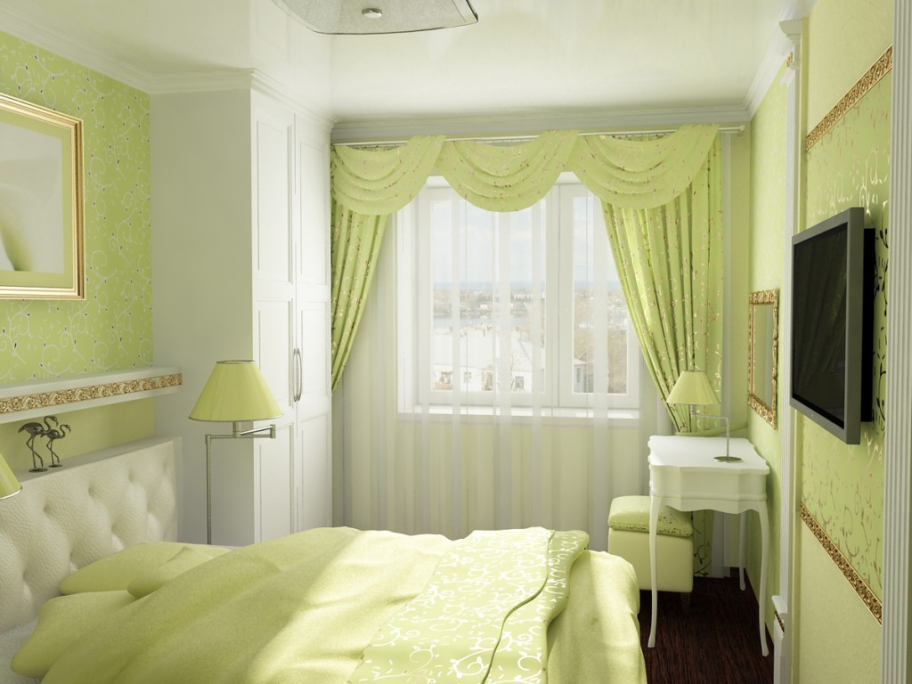 Главное - подобрать кровать максимально большую и удобную, насколько этого позволяет площадь комнаты