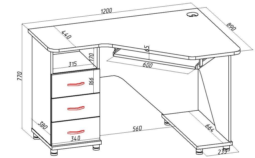 Для удобства рекомендуется зарисовать внешний вид будущего стола