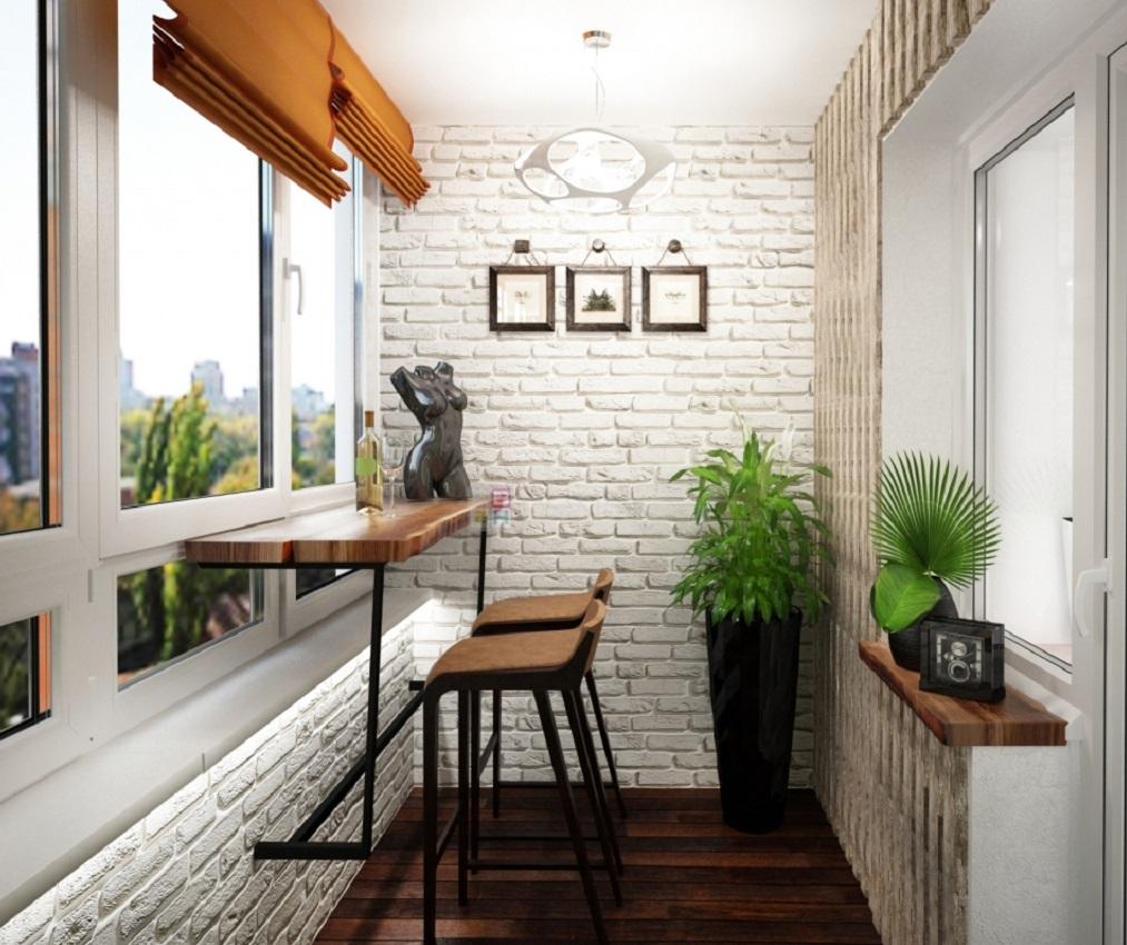 В декоре стен разрешается использовать белый или светлый кирпич