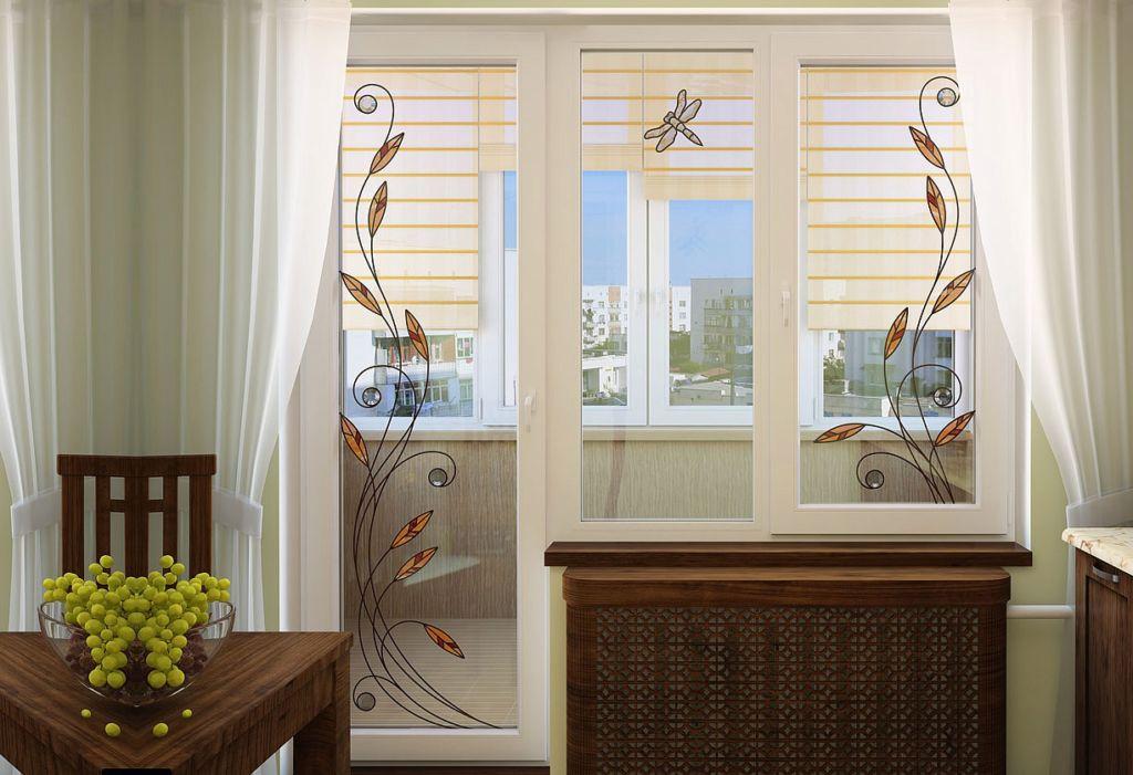 Декор окна и балконной двери