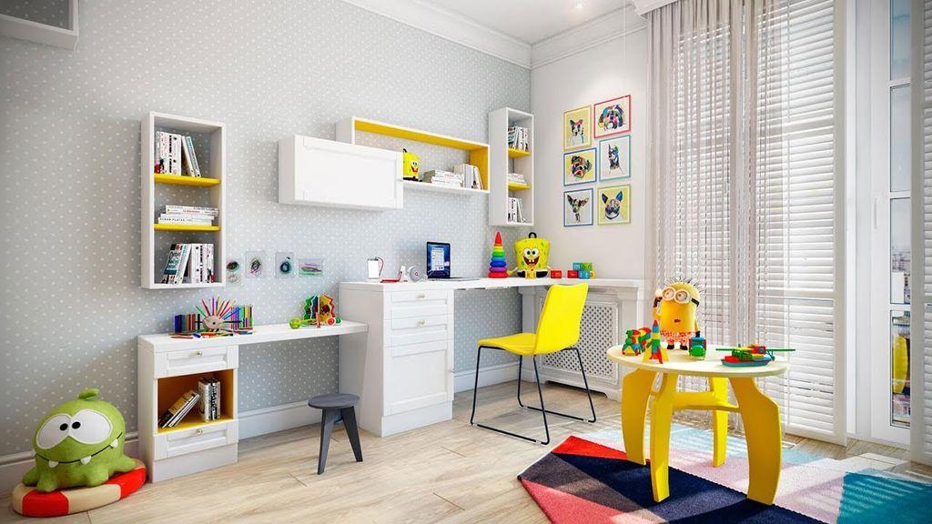 В комнате пастельных тонов яркими деталями могут быть аксессуары и предметы мебели