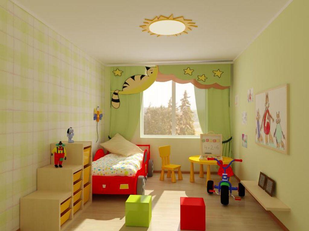 В длинной и узкой комнате свободное пространство оставляют по центру