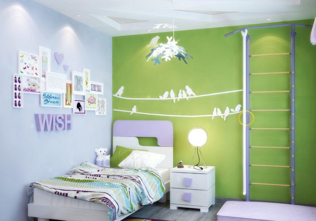 Декор на стены можно на нести и в комнате для мальчика, и для девочки