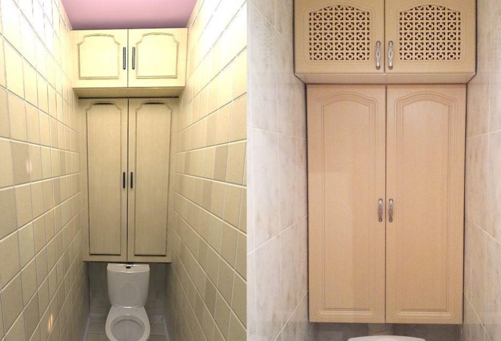 Шкаф в туалете над унитазом