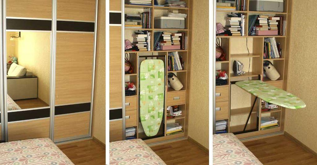 Откидной вариант становится доступен после открытия двери шкафа