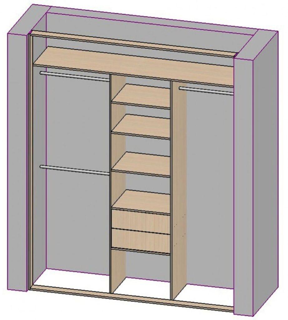 Распределение пространства в шкафу