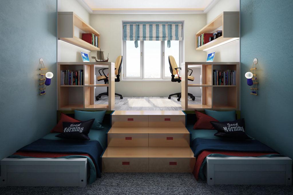 Как выбрать и куда поставить выдвижную кровать для двоих детей