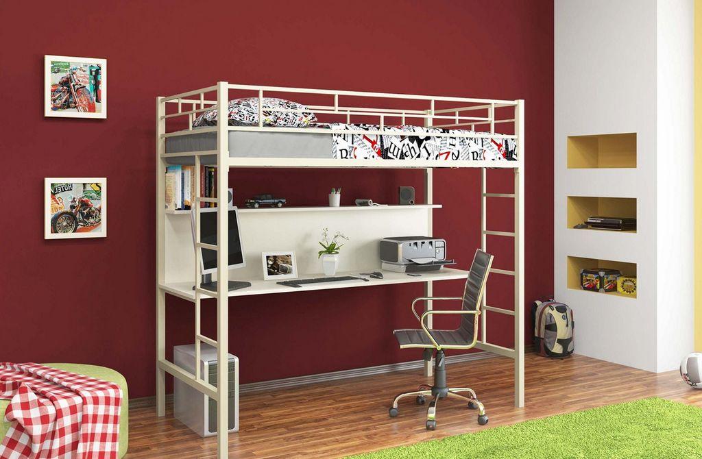 Кровать-чердак предполагает, что спальное и рабочее место находятся в статичном положении