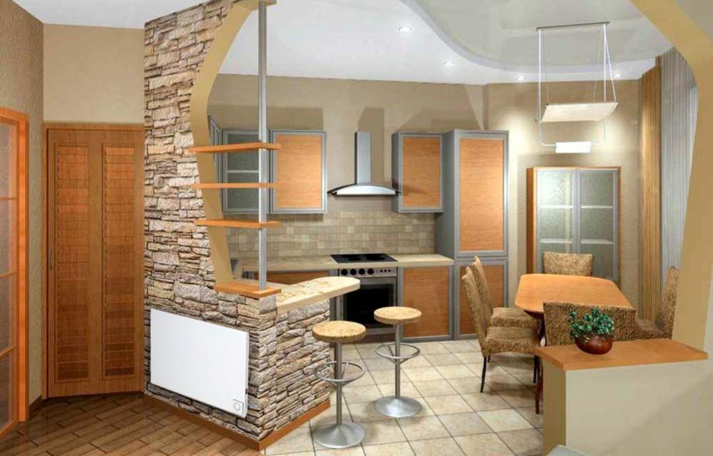 Для однокомнатной квартиры решение объединить некоторые помещения является выгодным и верным
