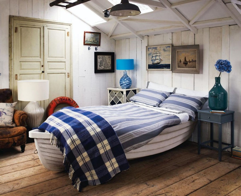 Оригинальная меблировка комнаты подростка в средиземноморском стиле