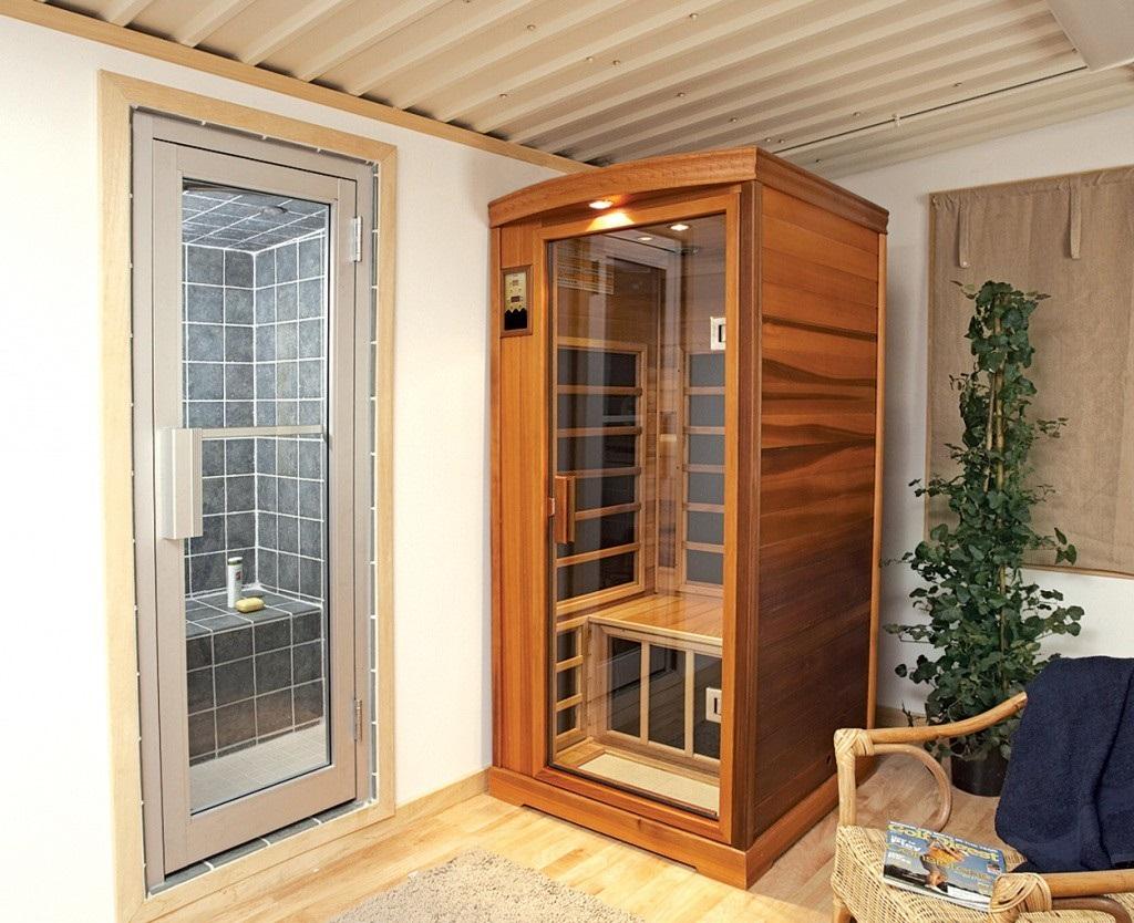 ИК- сауну можно установить в любой квартире.