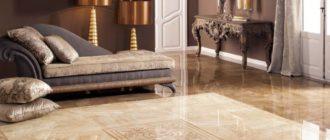 Как подобрать плитку на пол к стилю гостиной