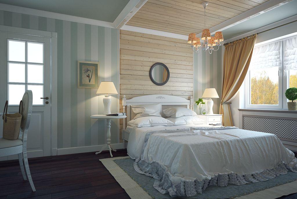Для стиля прованс идеально подойдут абажуры из ткани