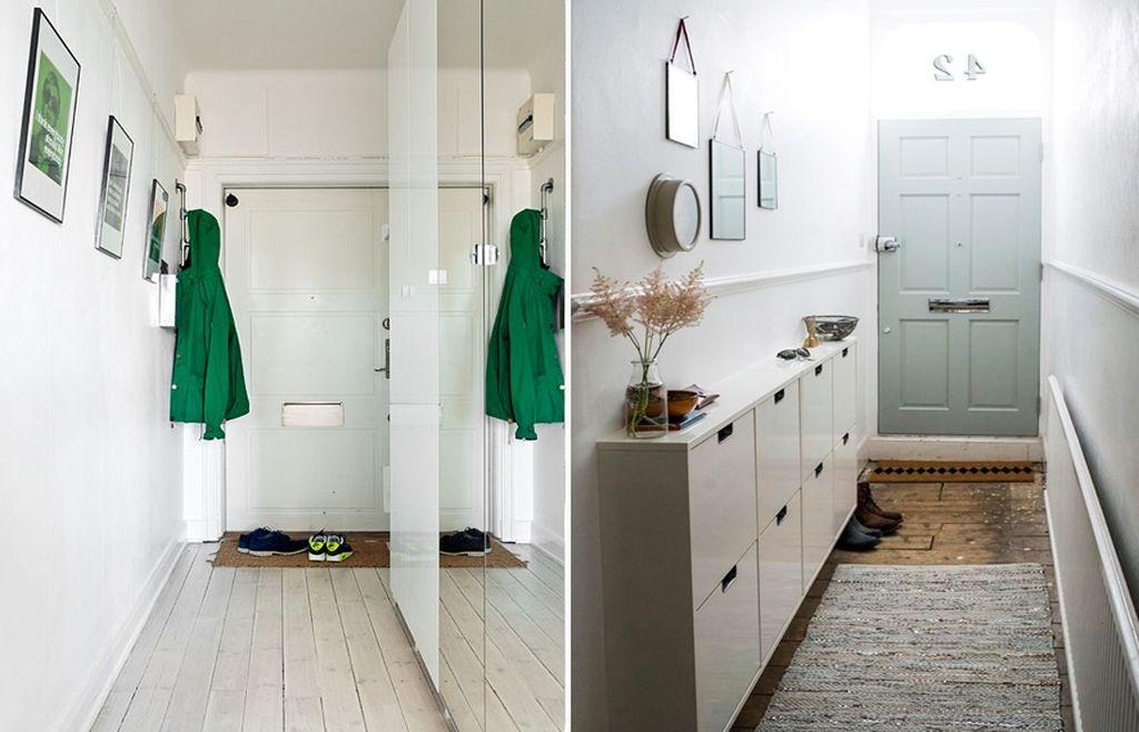Стиль минимализм идеально подходит для маленького коридора