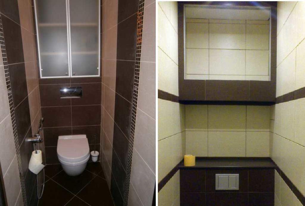 Варианты шкафчиков в туалете над инсталляцией