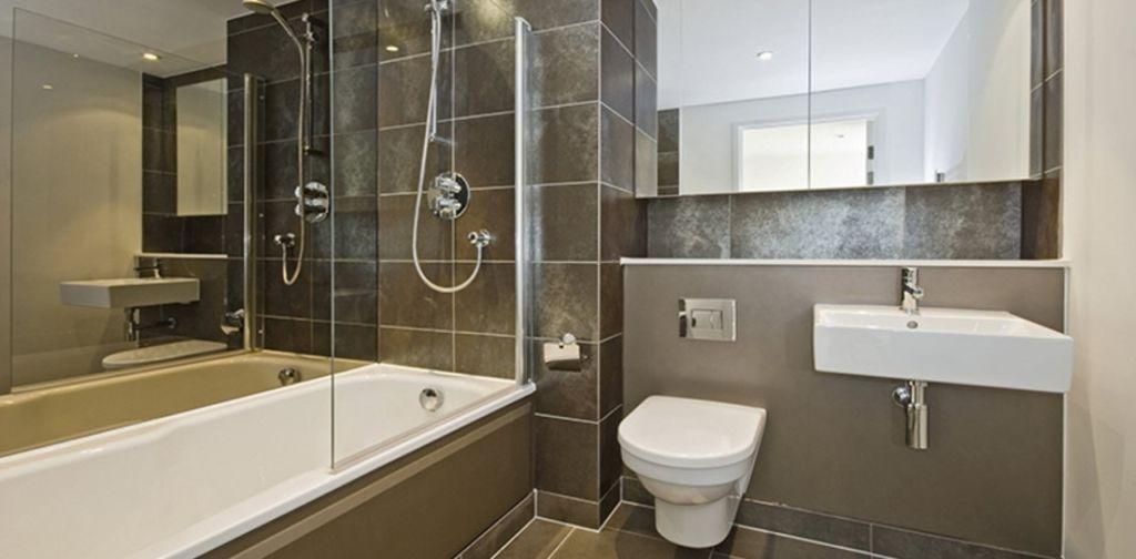 Дизайн совмещенной ванной с туалетом в современном стиле