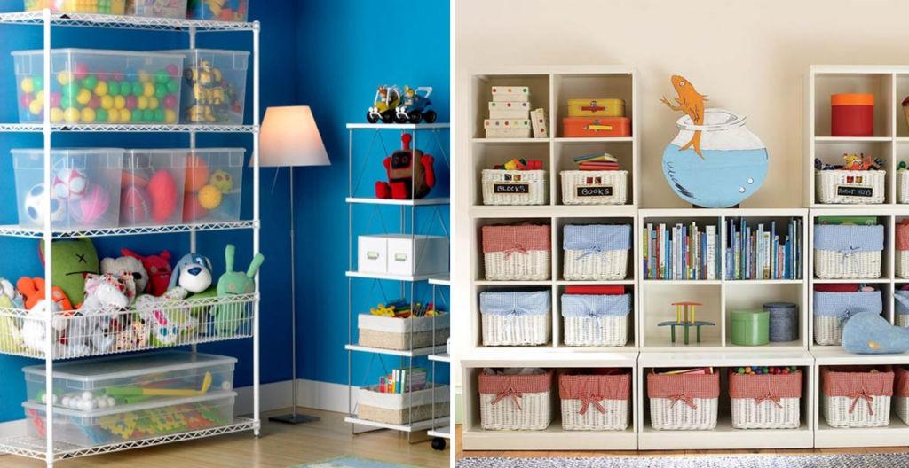 Декорируйте контейнеры и коробки для хранения игрушек яркими лентами, фетром, сухоцветом и приобщайте к этому процессу ребенка
