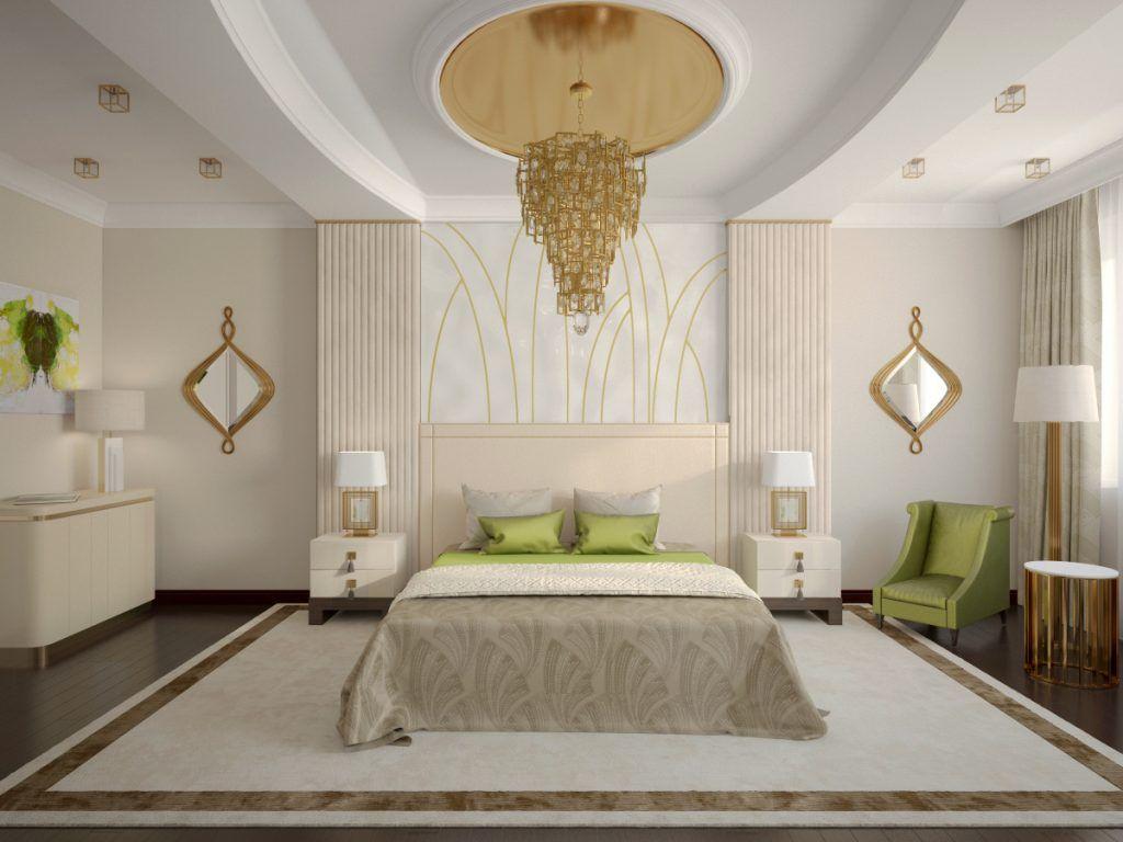Бежево-белый интерьер делает комнату уютной