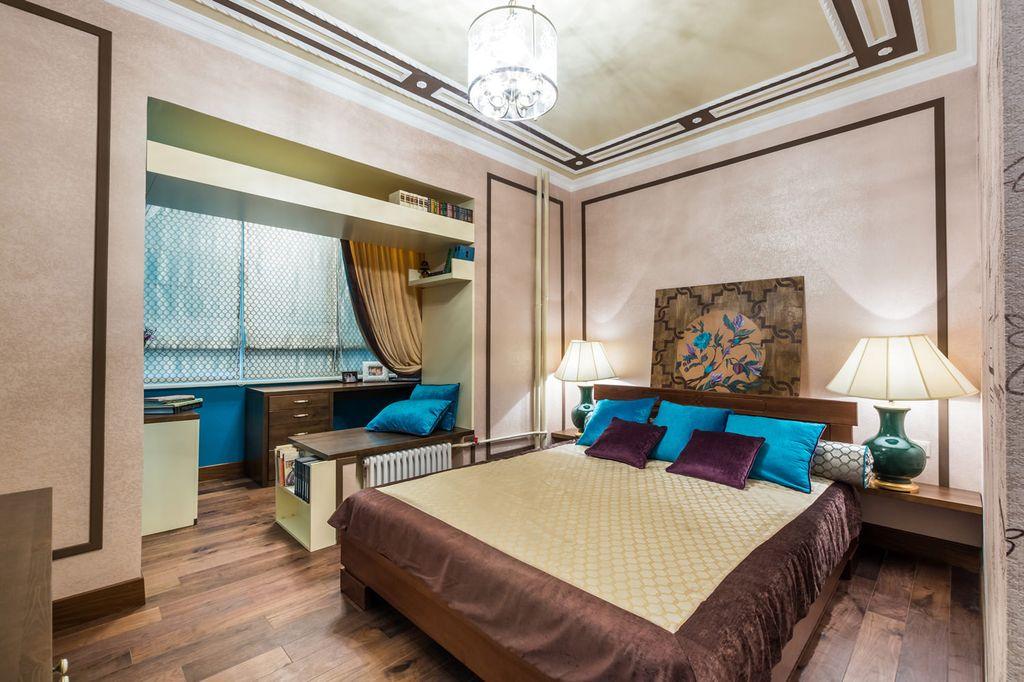 Главное достоинство совмещения спальни и балкона - увеличение площади функционального пространства