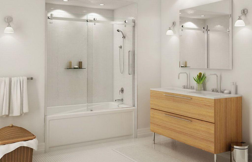 Стеклянные шторки для ванной и душа