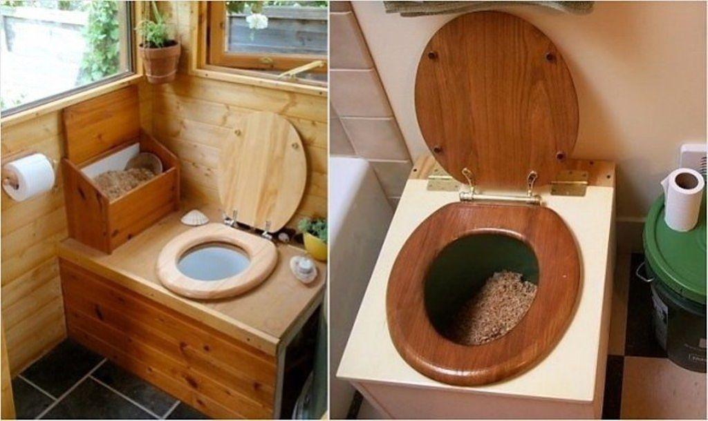 Торфяной туалет очень удобен в том случае, если на участке отсутствует водопровод