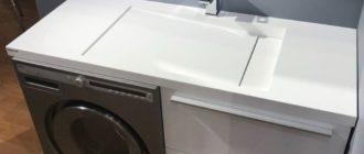 6 ключевых деталей для правильного выбора раковины со столешницей под стиральную машину