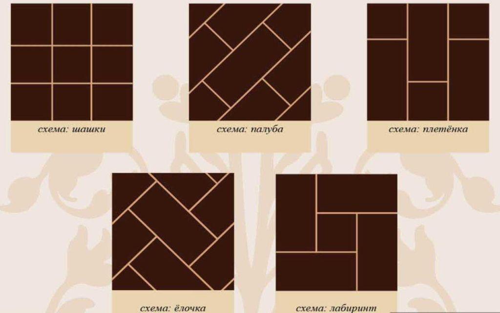 Вариант укладки стен плиткой по диагонали