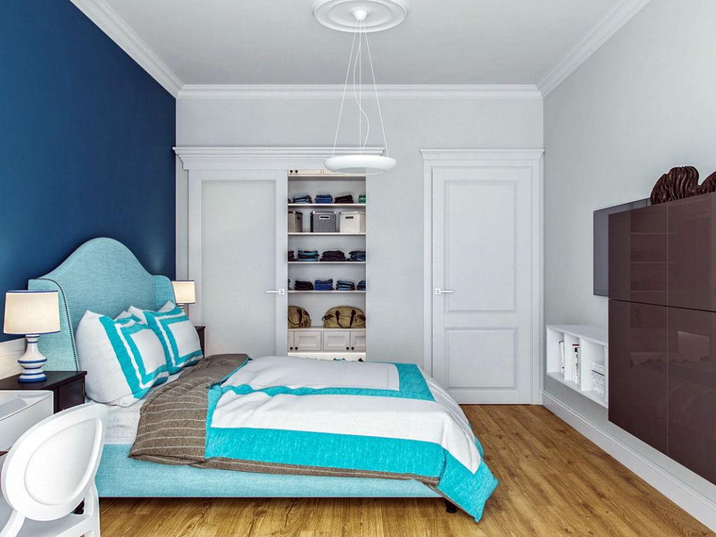 Современные тенденции призывают отдать должное цветовой гамме, оформляя стены и другие части помещения в бирюзовом цвете