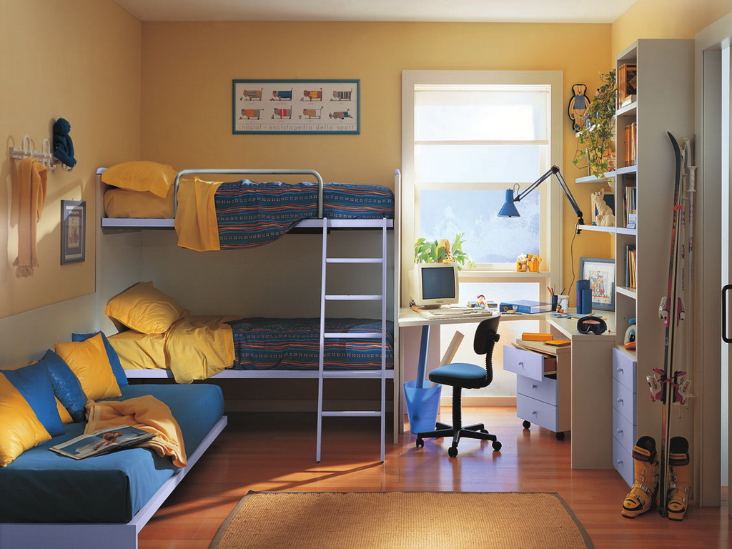 Детская для двоих детей – характерное явление в квартирах, где сложно выделить отдельное помещение для каждого из малышей