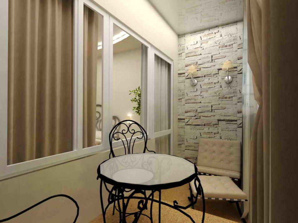 Можно отделать и обставить балкон в едином стиле, это более затратный вариант, но и более роскошный