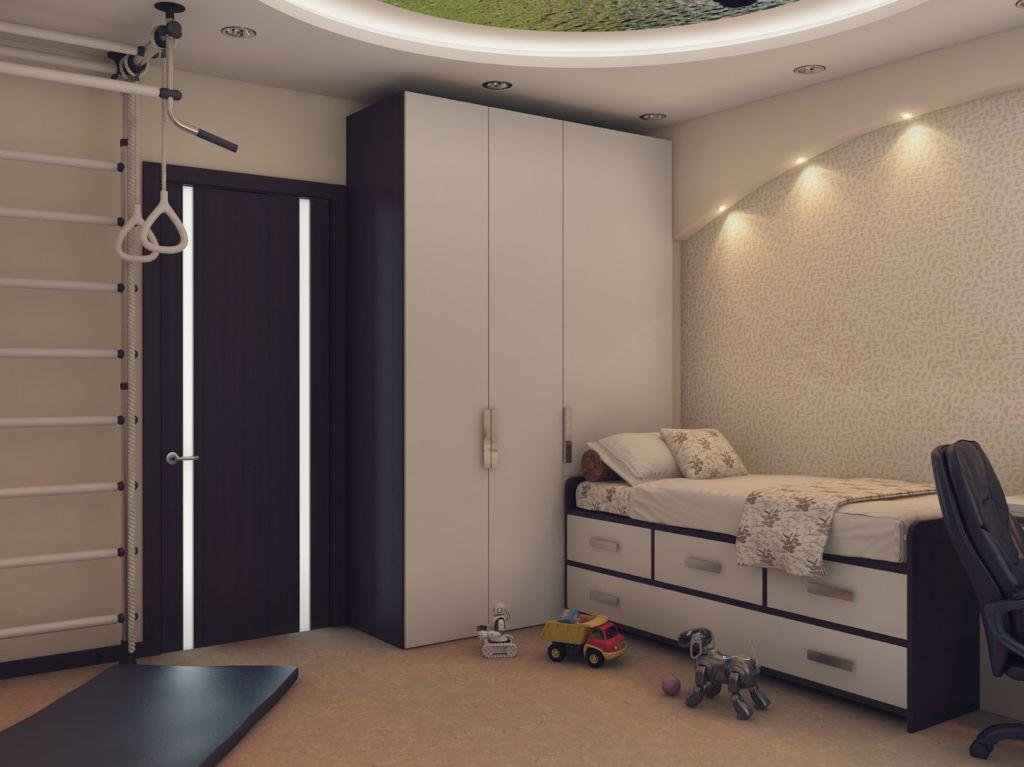 Светлый шкаф в детскую комнату для мальчика