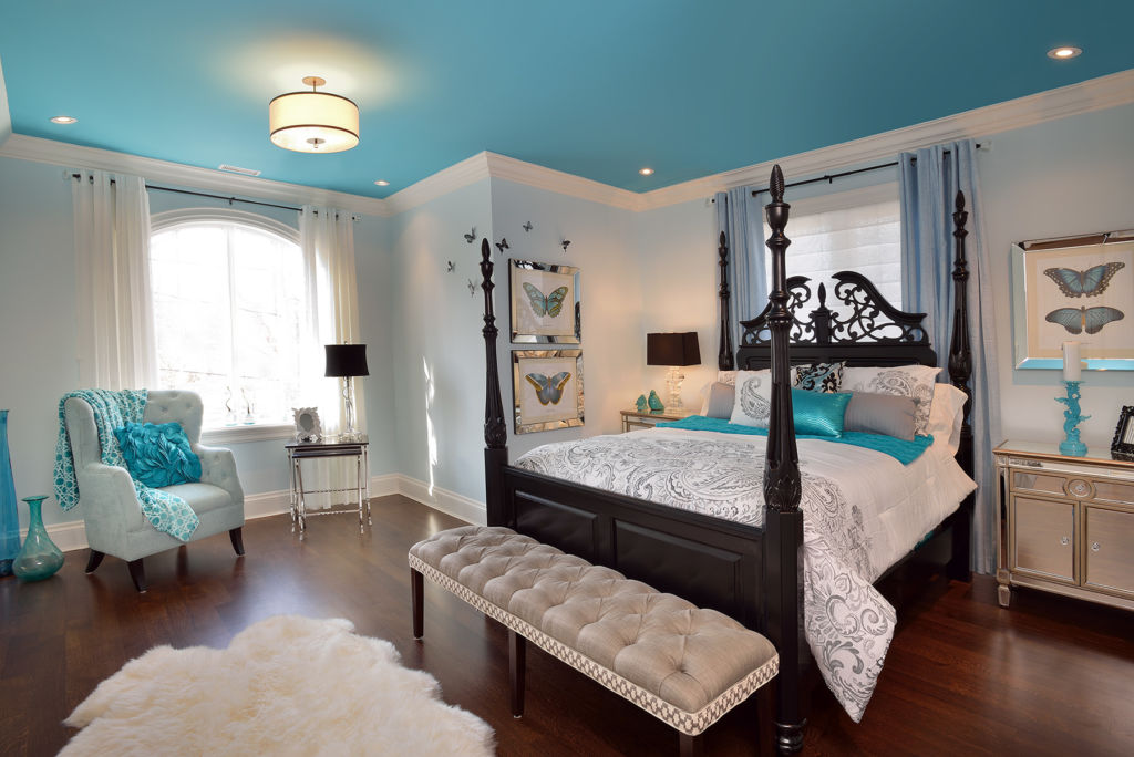 6 оптимальных стилей для спальни в бирюзовых тонах