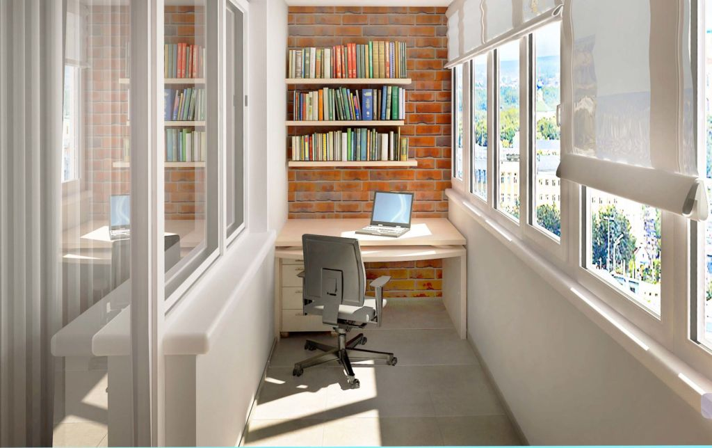 Организация рабочего кабинета на маленьком балконе