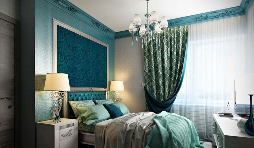 Бирюзовый цвет, сочетающий в себе оттенки зелёного и голубого, имеет как холодные, так и тёплые тона и благотворно влияет на психологическое состояние