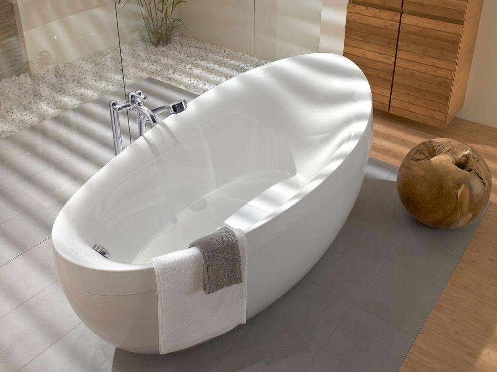 Ванны из кварила при одинаковом объеме вместительнее, чем ванны из акрила