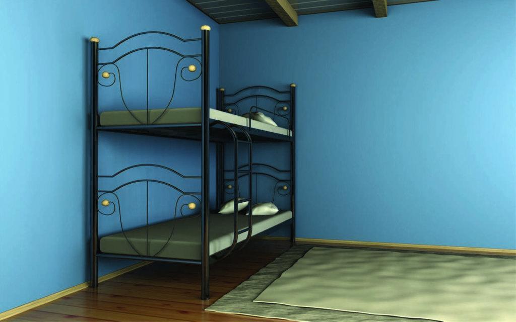 Двухъярусная кровать является оптимальным выбором для многих помещений