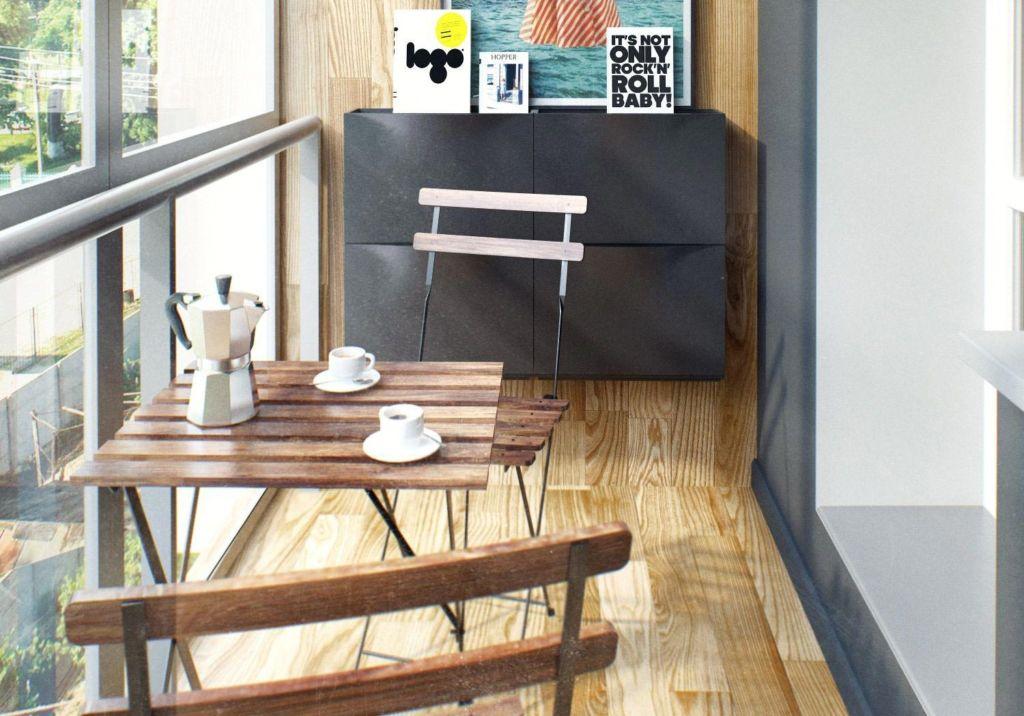 Для небольшого пространства подойдет складная мебель, которая занимает не так много места