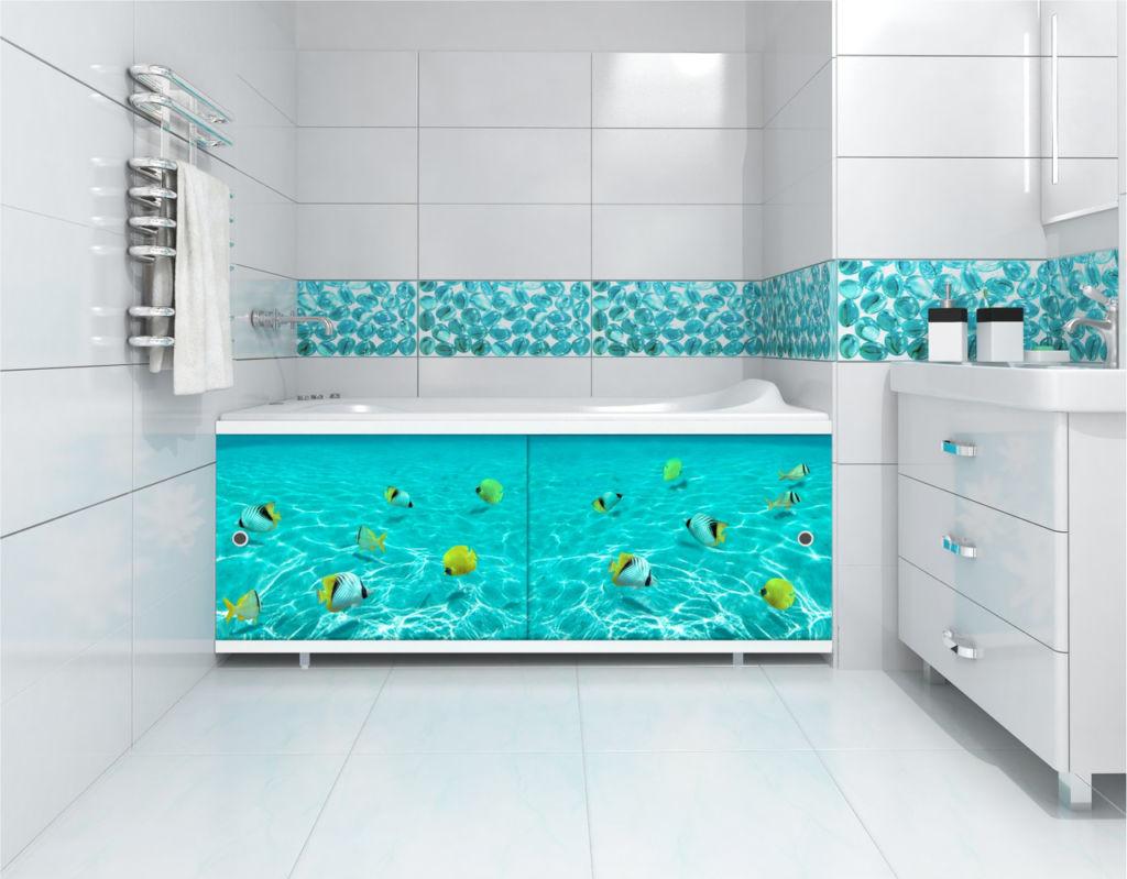 Экран под ванну раздвижной