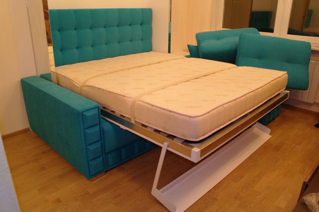 Угловой диван-кровать-шкаф